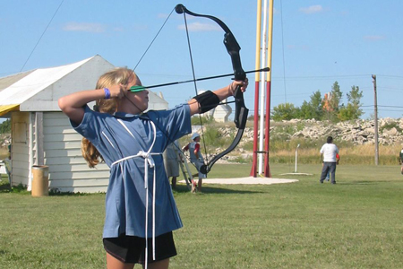 Young archer  - photo by Donna Lesage